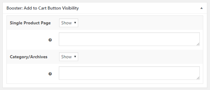 WooCommerce Add to Cart Button Visibility - Admin Settings - Per Product - Product Meta Box
