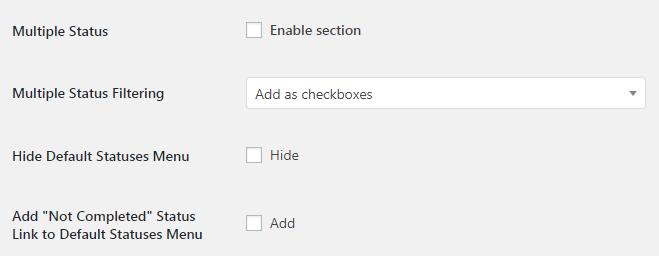 WooCommerce Admin Orders List - Admin Settings - Multiple Status