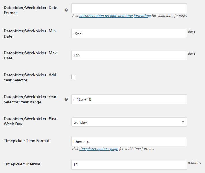 WooCommerce Checkout Custom Fields - Admin Settings - Datepicker Weekpicker Timepicker Options