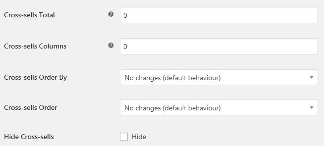 WooCommerce Cross-sells - Admin settings