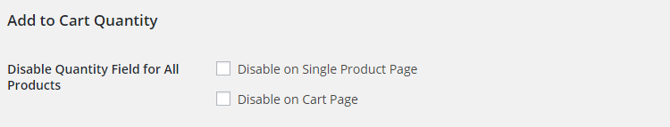 WooCommerce Product Add to Cart - Admin Settings - Add to Cart Quantity