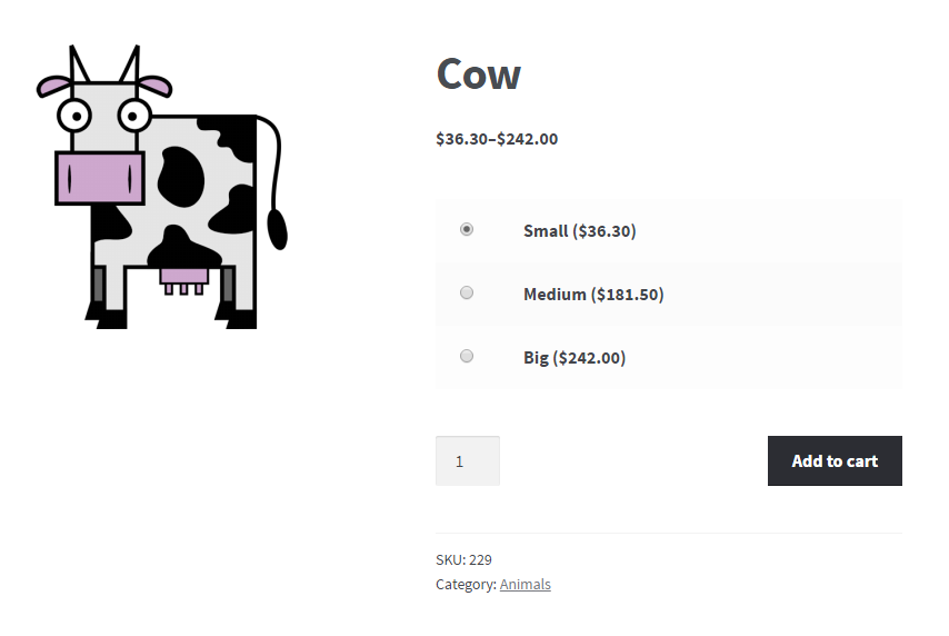 WooCommerce Product Add to Cart - Frontend - Add to Cart Variable Product